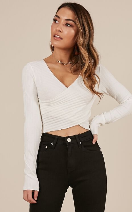 Off Chance Top In White