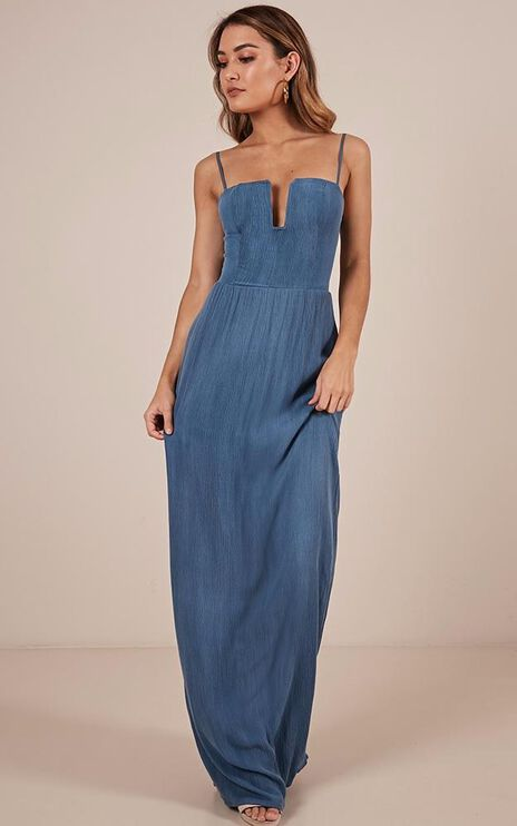 Putting It On Maxi Dress In Blue