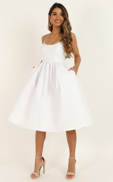 Wild Nights Dress In White