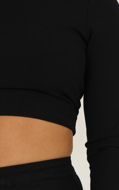 Youre in Luck top in black - 20 (XXXXL), Black, hi-res image number null