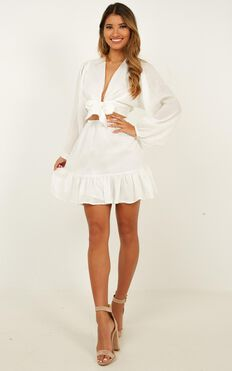 Consideration Dress In White