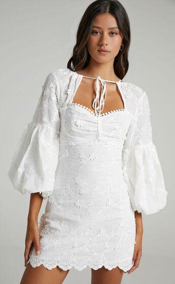 Kamillah Dress in White