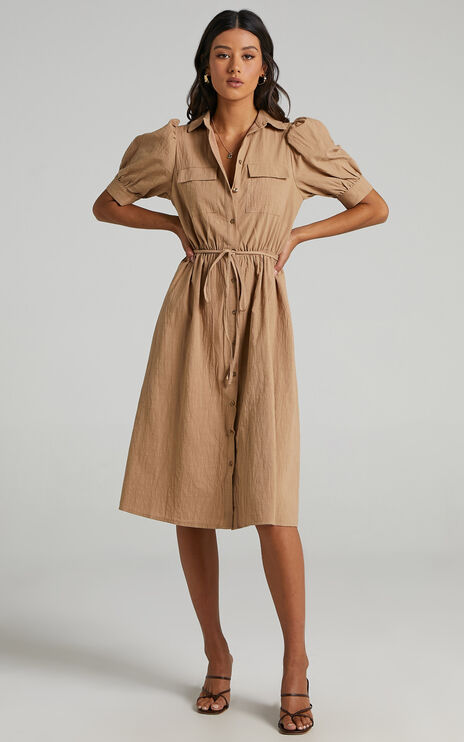 Tiras Dress in Mocha