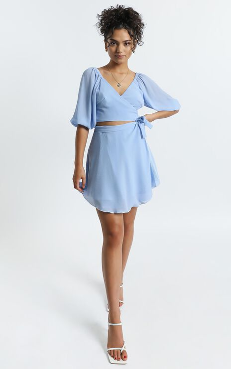 Jadey Two Piece Set in Blue