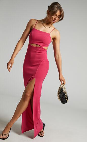 Monet Cut Out Underbust Dress in Hot Pink