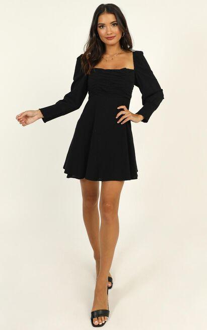 Parisian Picnic Dress in black - 14 (XL), Black, hi-res image number null