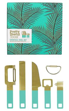 Pretty Useful Tools: Cocktail Tool Set In Tropical Topaz