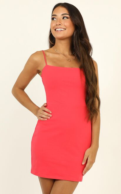 Costa Rica Dress in watermelon - 12 (L), Pink, hi-res image number null