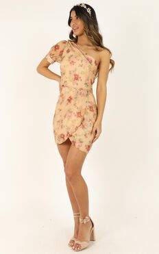 I Know I'm Gonna Miss You Dress In Peach Floral