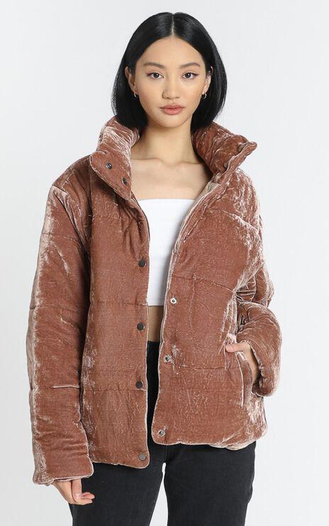 Mishka Puffer Jacket in Rose