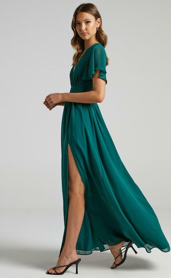 December Dress in Emerald