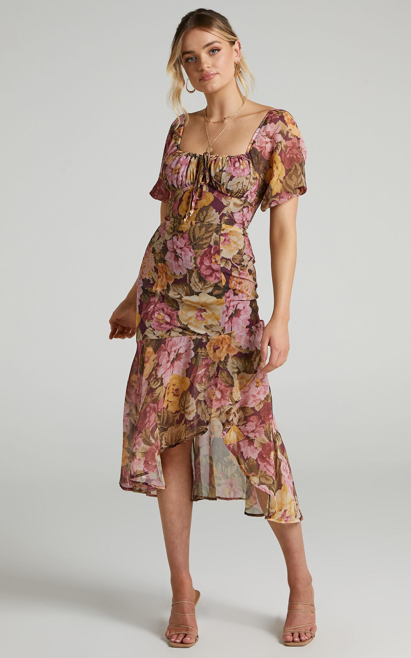Jasalina Dress in Classic Floral - 06, PNK1, super-hi-res image number null