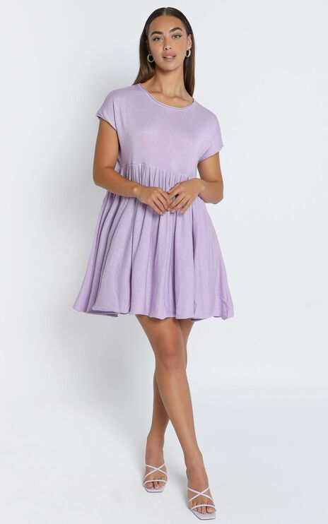 Embry Knit Dress in Lilac