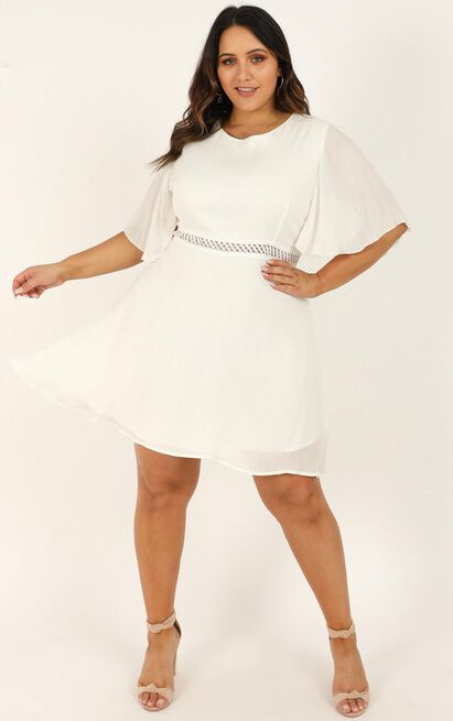 Missing sun Dress in white - 20 (XXXXL), White, hi-res image number null