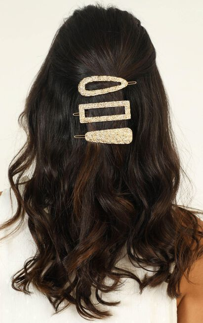 Need Me There Hair Clip Pack In gold, , hi-res image number null