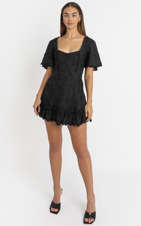 Fancy A Spritz Dress In Black Embroidery