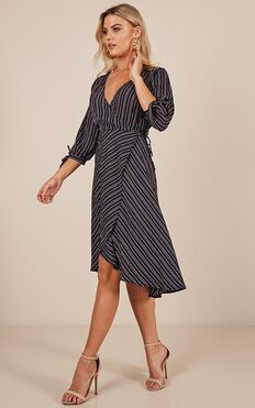 Nice For What Dress In Navy Stripe