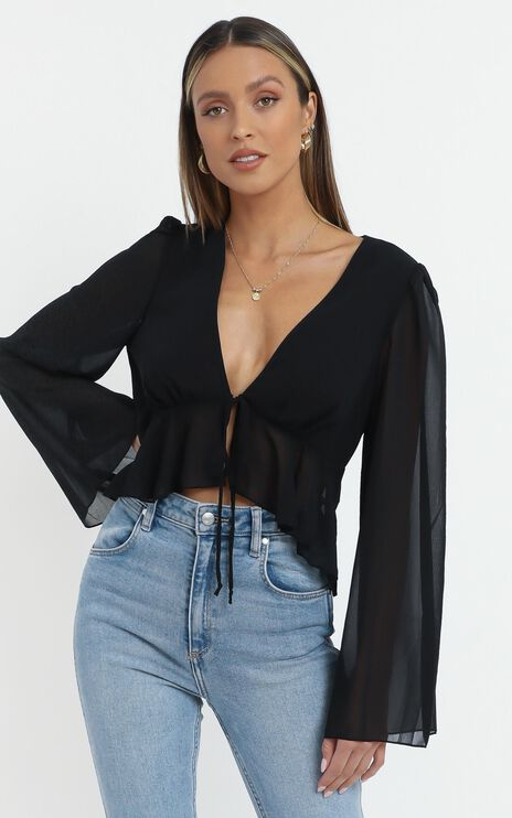 Dance It Out Top in Black