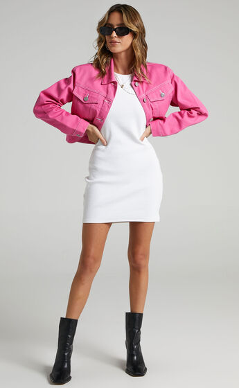 Eerika Denim Jacket in Pink