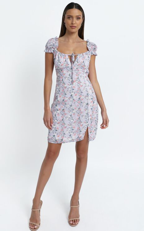 Chadwick Dress in Lilac Floral