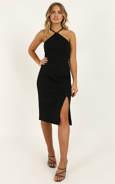 Missed The Point Dress In Black