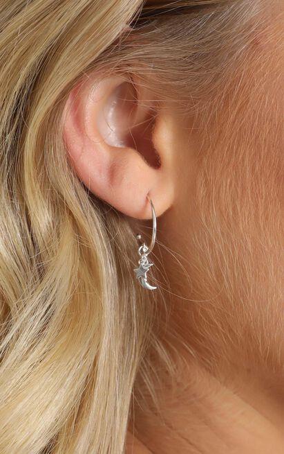 Midsummer Star - Lullaby Hoop Earrings In Silver, , hi-res image number null