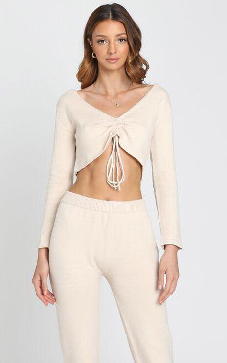 Neutral Hues Knit Top in Beige