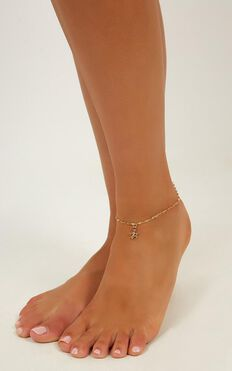 Keeping Score Anklet In Gold