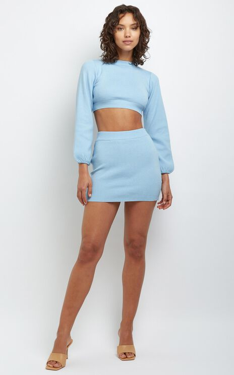 Tori Two Piece Set in Blue