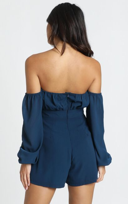 Truer Than you Playsuit in navy - 12 (L), Navy, hi-res image number null