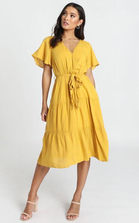 Fight The Feeling Dress In Mustard