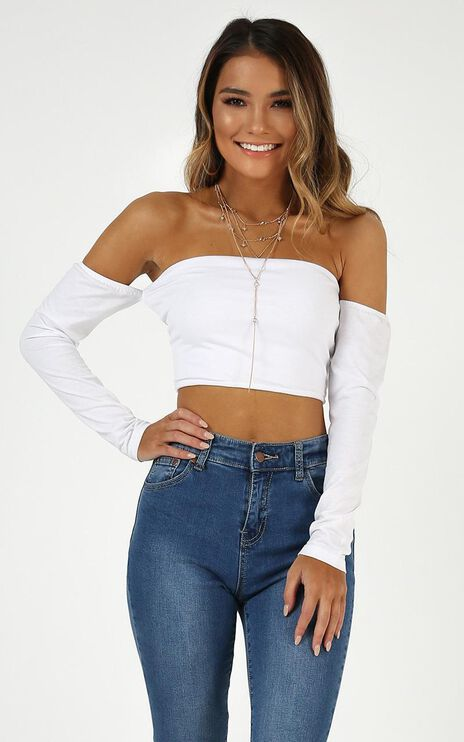 You Deserve Better Top In White