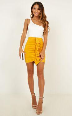 Extra Volume Skirt In Marigold