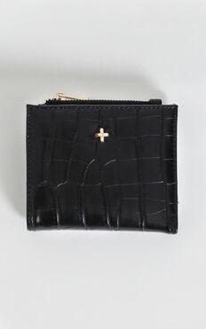 Peta And Jain - Joey Wallet In Black Croc