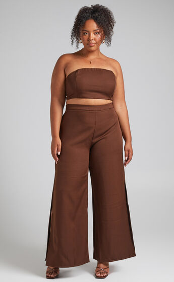 Im The One Two Piece Set in Chocolate