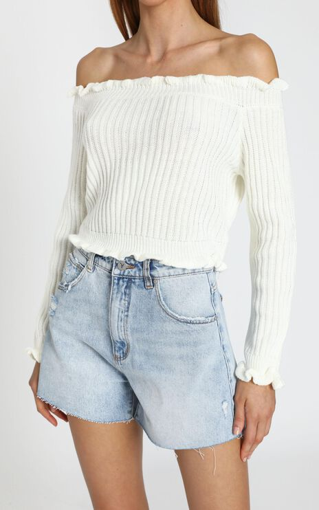 Caught You Staring Knit Jumper in White