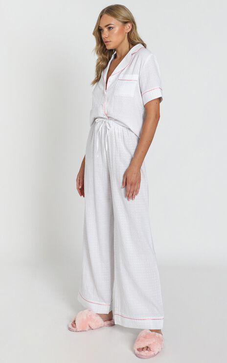 Sleeping Beauty Pyjama Pants In White Gingham Check