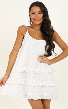 Long Reflections Dress in White