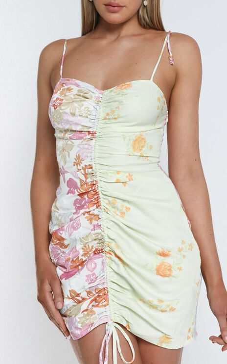 Save It For The Weekend Dress In Multi Floral
