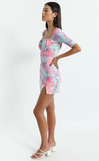 Elka Dress in Electric Blooms