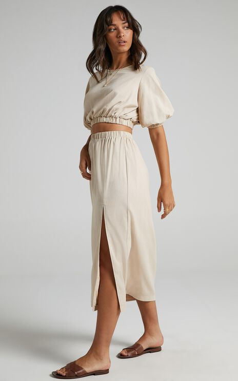 Asta Two Piece Set In Beige