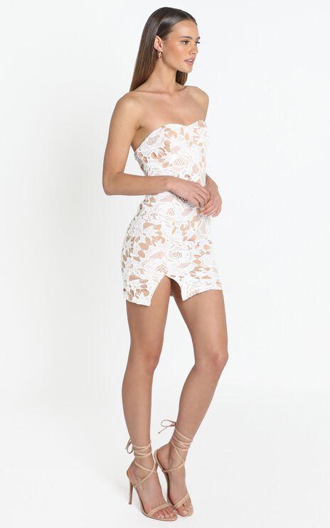 I Wont Let Go Mini Dress in white lace