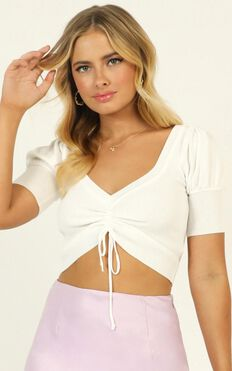 Better Now Knit Top In White