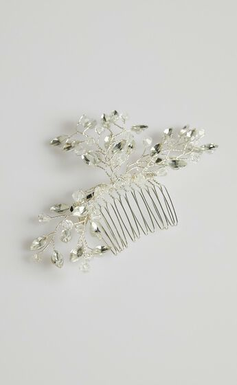 Stand By You Hair Piece in Silver