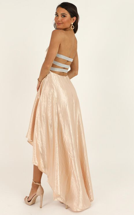 Well To Do Dress In Blush Sequin
