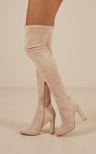 Billini - Piper boots in blush micro - 10, Blush, hi-res image number null