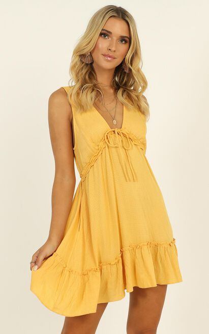 Feeling Tropical Mini Dress Dress in yellow - 12 (L), Yellow, hi-res image number null