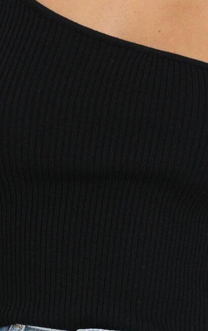 Private Life One Shoulder Top in black - 12 (L), Black, hi-res image number null