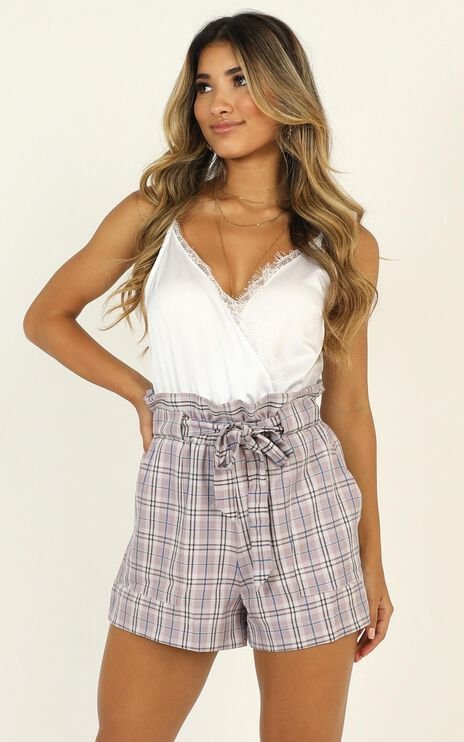 All Rounder Shorts In Lilac Check
