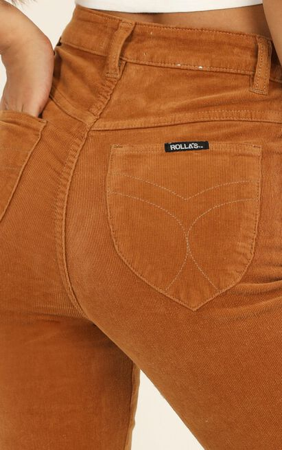 Rollas - Eastcoast Flare in tan cord - 12 (L), Tan, hi-res image number null